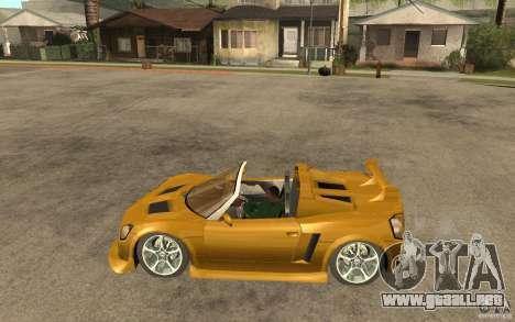 Opel Speedster para GTA San Andreas left