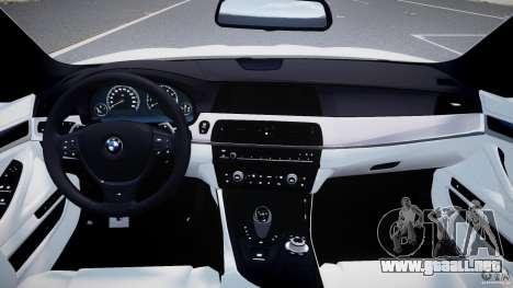 BMW M5 F10 2012 M Stripes para GTA 4 visión correcta