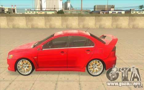Mitsubishi Lancer Evolution X MR1 para GTA San Andreas left