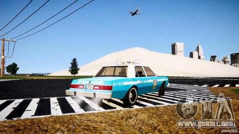 Dodge Diplomat 1983 Police v1.0 para GTA 4 Vista posterior izquierda