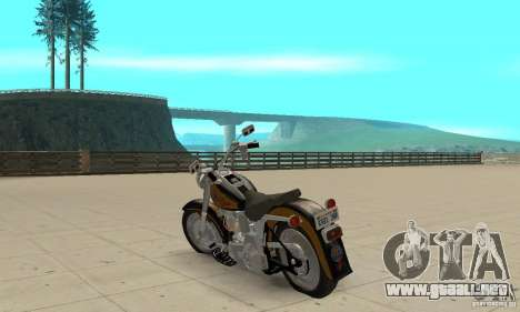 Harley Davidson FLSTF (Fat Boy) v2.0 Skin 3 para GTA San Andreas vista posterior izquierda