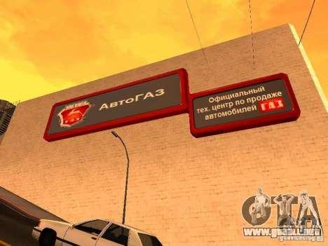 Gaz para GTA San Andreas segunda pantalla