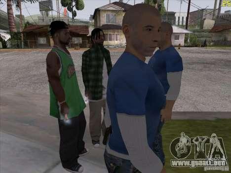 Vin Diesel para GTA San Andreas segunda pantalla