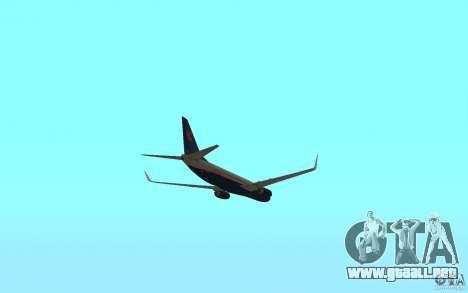 Boeing 737-800 para visión interna GTA San Andreas