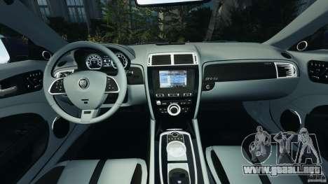 Jaguar XKR-S Trinity Edition 2012 v1.1 para GTA 4 vista hacia atrás