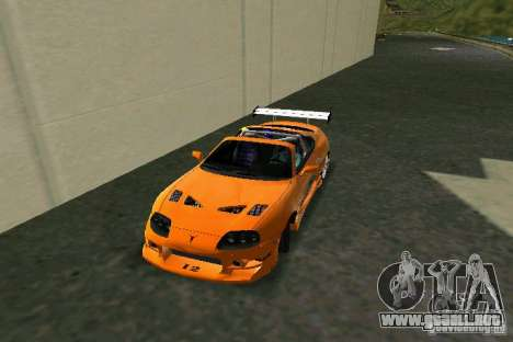 Toyota Supra Fast and the Furious para GTA Vice City left