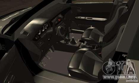 Mitsubishi Lancer Evo VIII MR Police para GTA San Andreas vista hacia atrás