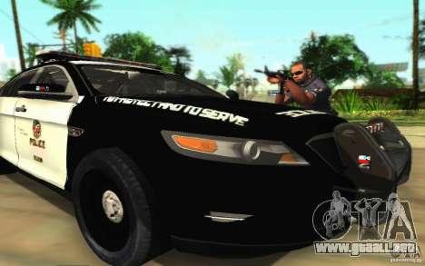 Ford Taurus 2011 LAPD Police para vista inferior GTA San Andreas