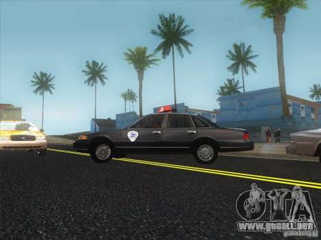 Ford Crown Victoria 1992 Detroit OCP para GTA San Andreas left