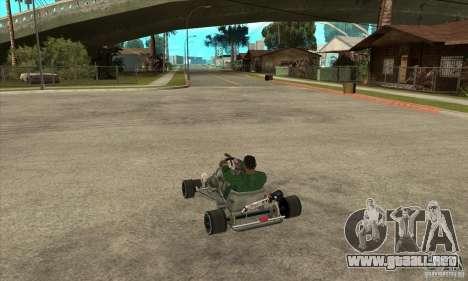 Stage 6 Kart Beta v1.0 para GTA San Andreas vista posterior izquierda
