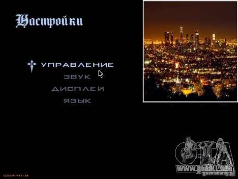 Nuevo menú al estilo de Los Ángeles para GTA San Andreas segunda pantalla