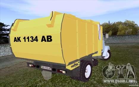 Camión ZIL 4331 para GTA San Andreas vista posterior izquierda