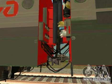 Vl80m-1785 ferrocarriles rusos para GTA San Andreas vista hacia atrás