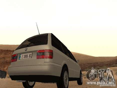 Volkswagen Passat B4 para GTA San Andreas vista hacia atrás