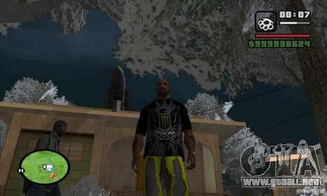 Monster energy suit pack para GTA San Andreas