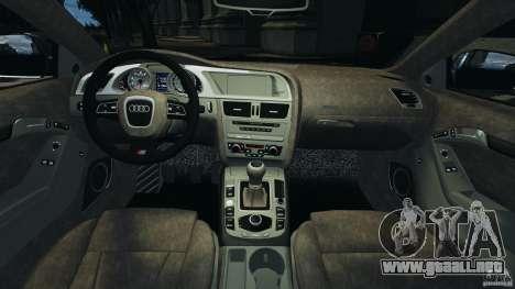 Audi S5 v1.0 para GTA 4 vista hacia atrás