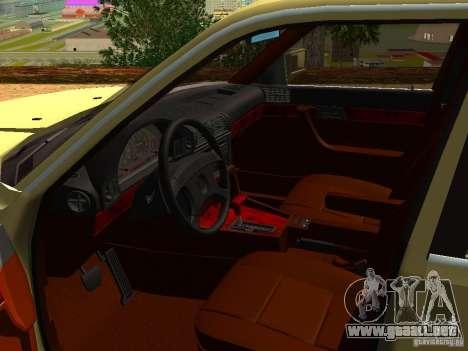 BMW 535 para GTA San Andreas vista hacia atrás