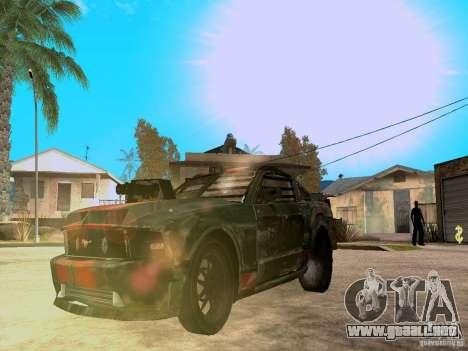 Ford Mustang Death Race para vista lateral GTA San Andreas