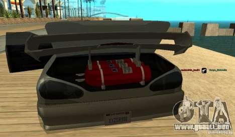 Elegy v1.1 para GTA San Andreas vista posterior izquierda