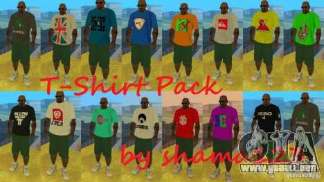 T-Shirt Pack by shama123 para GTA San Andreas