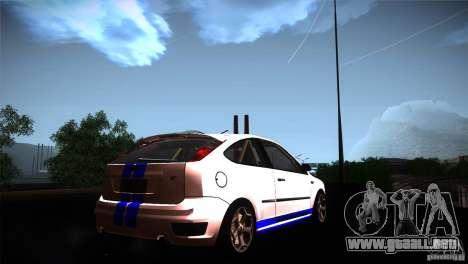 Ford Focus 2 Coupe para GTA San Andreas vista posterior izquierda