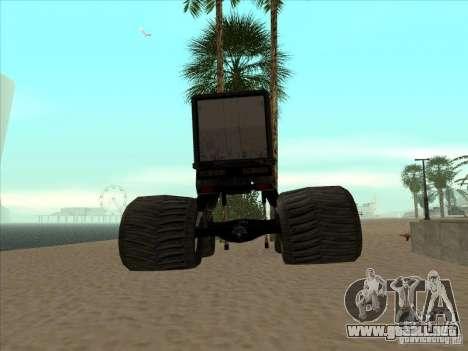 Remolque para el carro Monsterous para GTA San Andreas vista posterior izquierda
