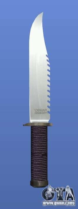 Cuchillo de Rambo sin firma para GTA 4 tercera pantalla