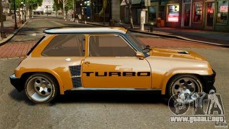 Renault 5 Turbo para GTA 4 left