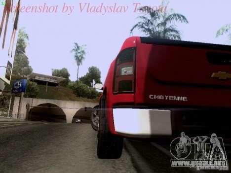 Chevrolet Cheyenne Single Cab para visión interna GTA San Andreas