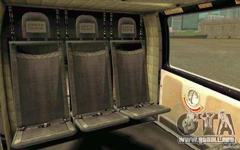 MD 902 Explorer para GTA San Andreas vista hacia atrás