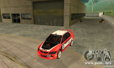 Mitsubishi Lancer Evolution IX para vista inferior GTA San Andreas