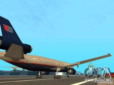 McDonell Douglas DC10 United Airlines para la visión correcta GTA San Andreas