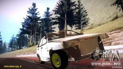 Vaz 21099 Hobo para GTA San Andreas vista hacia atrás