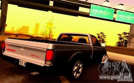 GMC Syclone Stock para la visión correcta GTA San Andreas