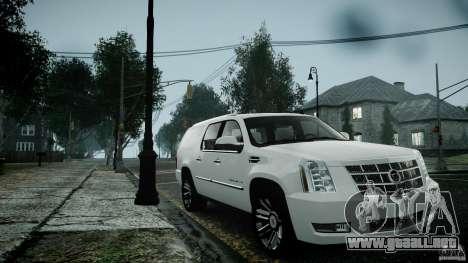 Cadillac Escalade ESV para GTA 4 vista hacia atrás