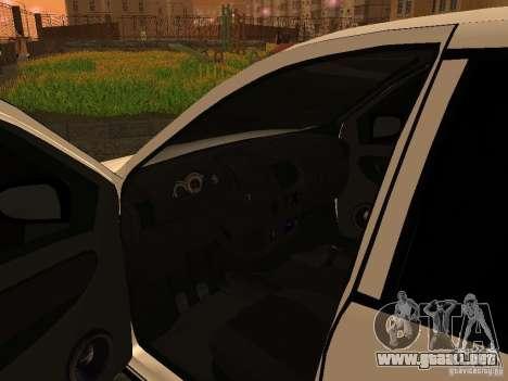 VAZ 1118 para GTA San Andreas vista hacia atrás