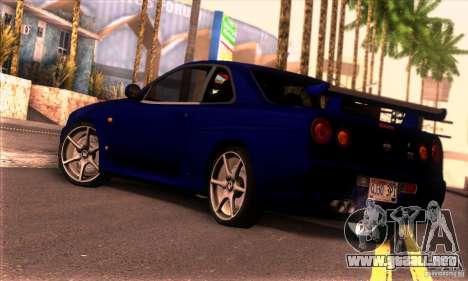 Nissan Skyline R34 GT-R Tunable para GTA San Andreas left