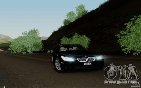 BMW M5 2009 para GTA San Andreas vista posterior izquierda