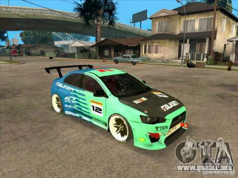 Mitsubishi Evo X Falken para GTA San Andreas left
