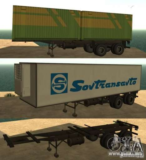Envase portador + Sovtransavto para GTA San Andreas