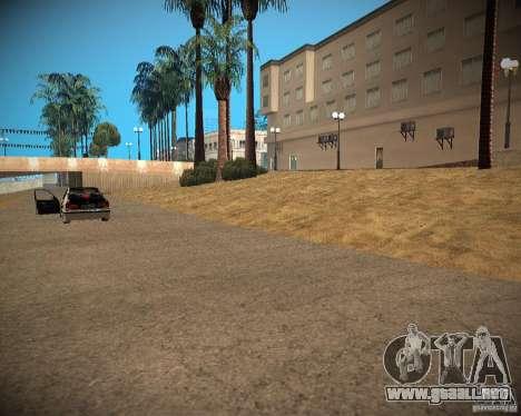 New textures beach of Santa Maria para GTA San Andreas quinta pantalla