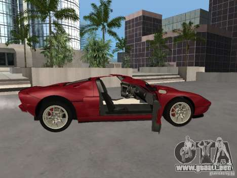 Ford GT para vista lateral GTA San Andreas