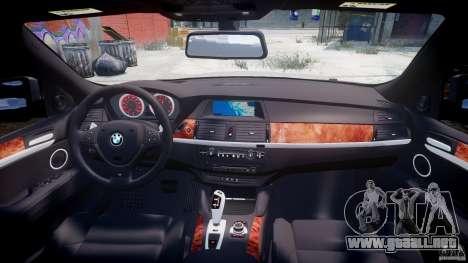 BMW X6M v1.0 para GTA 4 vista desde abajo