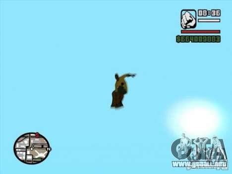 Snowboard para GTA San Andreas vista posterior izquierda