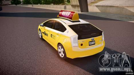 Toyota Prius NYC Taxi 2011 para GTA 4 Vista posterior izquierda