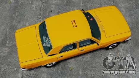 Taxi Gaz-3102 para GTA 4 visión correcta