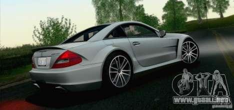 Mercedes-Benz SL65 AMG Black Series para GTA San Andreas vista hacia atrás
