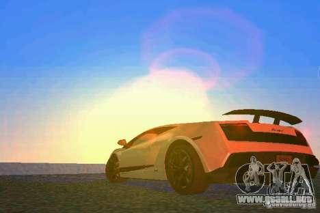 Lamborghini Gallardo LP570 SuperLeggera para GTA Vice City vista lateral izquierdo