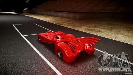Batmobile Final para GTA 4 Vista posterior izquierda