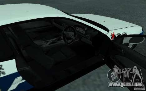 Nissan Silvia S15 Police para GTA San Andreas vista hacia atrás